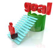 Stairway to the goal Royalty Free Stock Photo