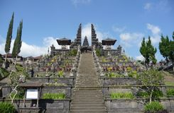 Stairway to the gods on Mount Agung in Bali. Stock Image