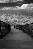Stairway. To Greek Orthodox chapel with storm approaching Stock Photos