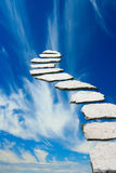 Stairway to heaven. Stone pathway leading to heaven Stock Photography