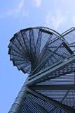 Stairway to heaven. (Metal stairway against blue sky Royalty Free Stock Photos