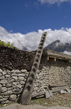 Stairway to Heaven. In Nepal Royalty Free Stock Photos