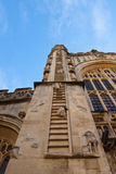 Stairway to Heaven. The facade of Bath Abbey showing the stairway to heaven Stock Image