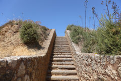 Stairway to heaven. Algarve, Portugal Royalty Free Stock Photography