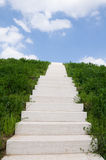 Stairway to Heaven. Stairway to hilltop with sky and clouds Royalty Free Stock Images