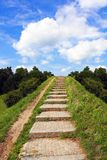 Stairway to heaven. Image that presents stairs leading to the blue sky Stock Image