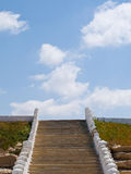 Stairway to heaven . Ladder in the sky .Scutan temporary crowns stock photography