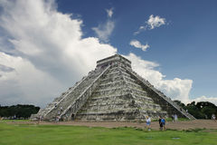 Stairway to heaven. Mayan Pyramid at Chichen-itza Royalty Free Stock Image