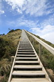 Stairway to heaven. Above a beautiful beach Stock Image
