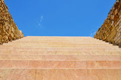 Stairway to heaven. A view of stairway with the sky at the end, as stairway to heaven Stock Image