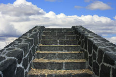Stairway to Heaven. Old stony staircase leading to the sky Stock Photography