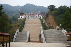 Stairway to Heaven. Chinese temples of stone staircase Royalty Free Stock Photo