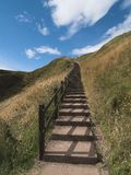 Stairway to heaven. Stairs that seem to lead right into heaven Stock Photos