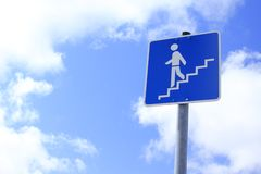 Stairway to Heaven. Road sign stairway to Heaven Stock Images