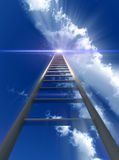 Stairway To Heaven. A religious conceptual image of a stepladder/stairway going up to heaven Royalty Free Stock Image