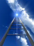 Stairway To Heaven. A religious conceptual image of a stepladder/stairway going up to heaven Royalty Free Stock Photo