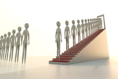 Stairway to heaven. Faceless souls climb quietly stairway to heaven Stock Image