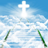 Stairway to heaven. Illustration of a ladder leading upward to heaven Royalty Free Stock Images