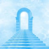 The stairway to heaven. Leading to God Royalty Free Stock Image