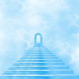 The stairway to heaven. Leading to God Stock Image