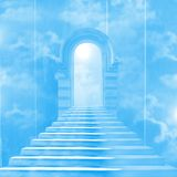 The stairway to heaven. Leading to God Stock Images
