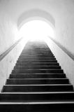 Stairway to heaven. Black stairway to white heaven Royalty Free Stock Images