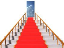 Stairway to heaven. 3d Illustration of stairway to heaven on white background