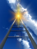 Stairway To Heaven 56. A religious conceptual image of a stepladder/stairway going up to heaven Royalty Free Stock Image
