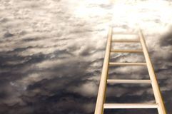 Stairway to heaven. In a cloudy an sunny day Royalty Free Stock Images