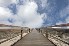 Stairway to heaven. With a beautiful cloudshape Royalty Free Stock Image