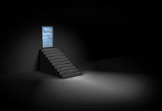 Stairway to heaven. Dark room and stairway to heaven Stock Image