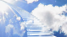 Stairway to heaven. A stairway to heaven background stock footage