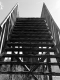Stairway to heaven. Black and white photo Royalty Free Stock Photography