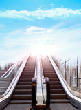Stairway to heaven - concept. Ideaa Stock Images
