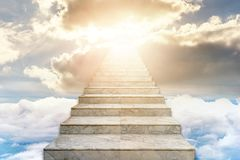 Free Stairway To Heaven. Concept Religion Royalty Free Stock Image - 140955326