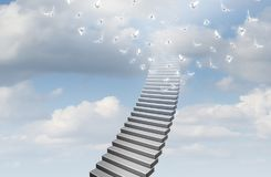 Stairway To Heaven Concept stock illustration