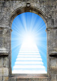 Stairway to heaven. Gate with stairway to heaven Stock Photos
