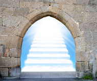 Stairway to heaven. Gate with stairway to heaven Stock Image