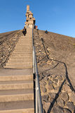 Stairway to Heaven. Gelsenkirchen, Germany - November 1, 2015: Halde Rheinelbe is a spoil tip and tourist attraction, and part of the industrial heritage trail ( Royalty Free Stock Images