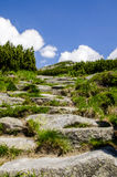 Stairway to heaven in mountains, High Tatras. The rocks formation - looks like stairway to heaven, High Tatras, Slovakia Stock Images
