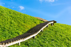 Stairway to heaven. Kernave, Lithuania Royalty Free Stock Photo