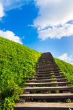 Stairway to heaven. Kernave, Lithuania Royalty Free Stock Images