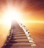 Stairway to heaven. Stairway leading up to bright light Royalty Free Stock Photography