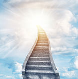Stairway to heaven. Stairway leading up to bright light Stock Images