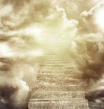 Stairway to heaven. Stairway leading up to heavenly sky Royalty Free Stock Photo