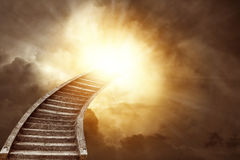 Stairway to heaven. Stairway leading up to heavenly sky Royalty Free Stock Image