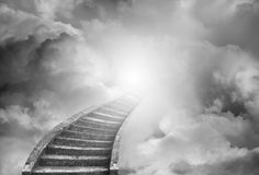 Stairway to heaven. Stairway leading up to heavenly sky Stock Photos