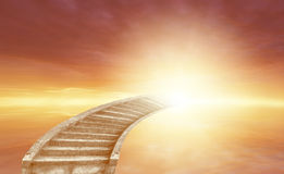 Stairway to heaven. Stairway leading up to heavenly sky Stock Photography