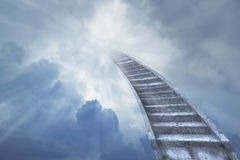Stairway to heaven. Stairway leading up to heavenly sky Stock Photo