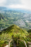 Stairway to Heaven in Oahu island Hawaii Royalty Free Stock Photo